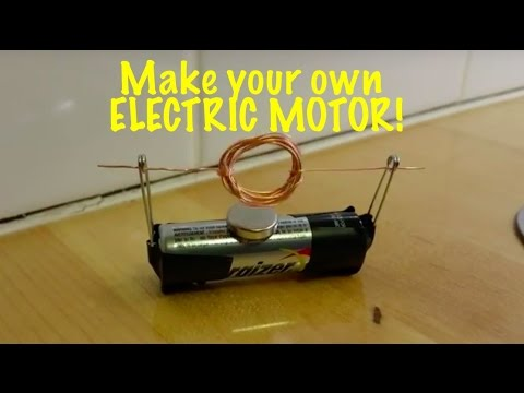 Extremely simple electric motor you can make for a science fair experiment!