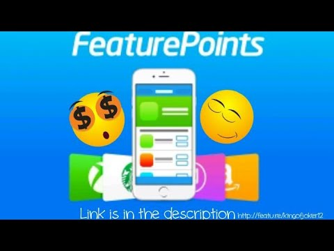 feature points 2018, free Amazon gift cards, free PayPal money,Link is in the description
