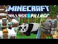 Minecraft 1.14 & 1.15 News : Village & Pillage Update! Panda's Bamboo, Scafolding & Crossbows
