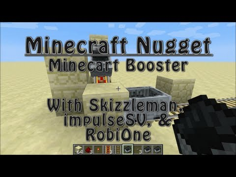 Minecraft Nugget - The Minecart Booster (Works in 1.7.9!)