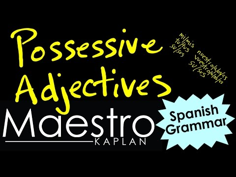 POSSESSIVE ADJECTIVES: How and When to use them in Spanish