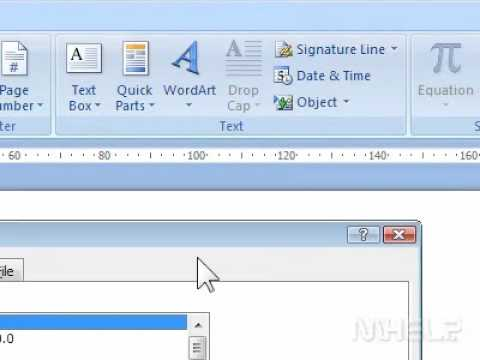 How to insert a new object into Word