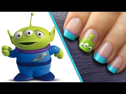 Toy Story Alien Nail Art Tutorial | #CutePolish | Disney Style