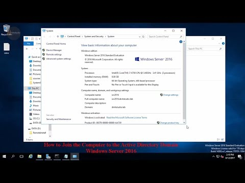How to Join the Computer to the Active Directory Domain Windows Server 2016