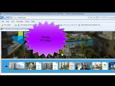 How to enter full screen in internet explorer 8