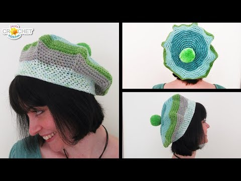 Crochet Beret - How to Increase and Decrease a Circle