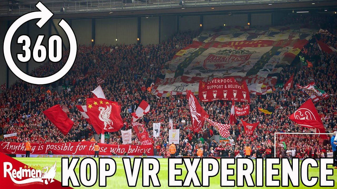 VR VIDEO: EXPERIENCE THE KOP SINGING YOU'LL NEVER WALK ALONE v EVERTON