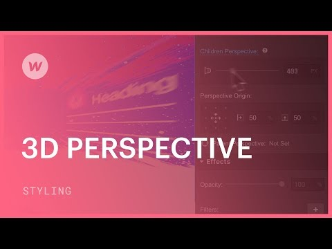 Enabling 3D perspective - Webflow CSS tutorial