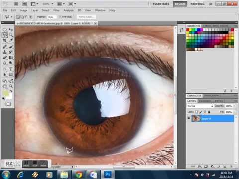 Fast Trick to Change Eyes Color In Photoshop Easy Steps 2015