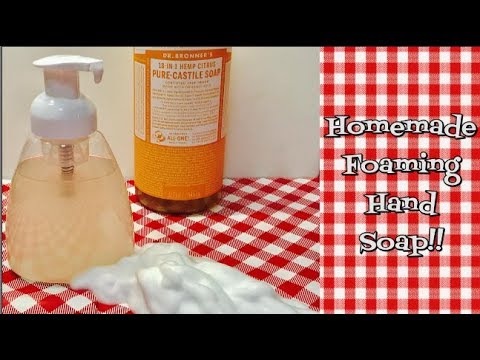 Homemade Foaming Hand Soap~Foaming Castile Hand Soap~Home Keeping Helpers~Noreen's Kitchen