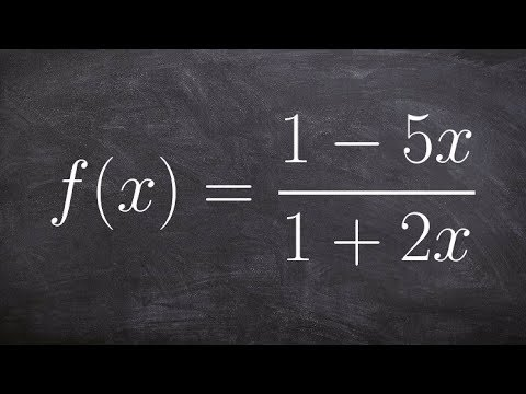 Determining the asymptotes of a rational function