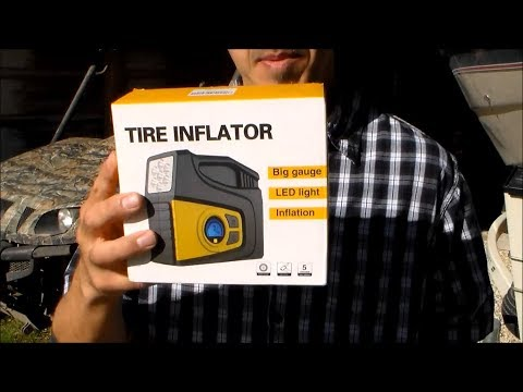 Abox 12v tire inflator with digital gauge and led light Review & Test