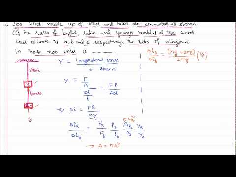 Elongation of Two wires in Series Under Different Loads in Mechanical Properties of Solids JEE NEET