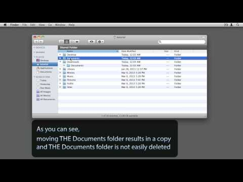 Mac OS X - Moving a or THE Documents folder