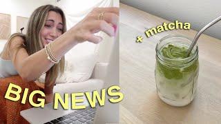 BIG NEWS + trying a whipped MATCHA!!!