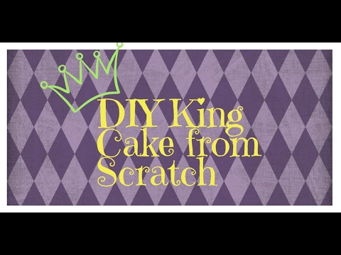 DIY King Cake with Cherry and Cream Cheese Filling