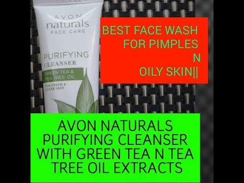 Best face wash for pimples n oily skin || Avon natural purifying cleanser green tea & tea tree oils.