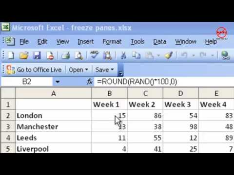 Excel Tutorial: How to Freeze Panes and Split Window