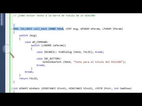 [VS2010 - C++] WinApi 17 - Enviar texto a un DIALOGBOX