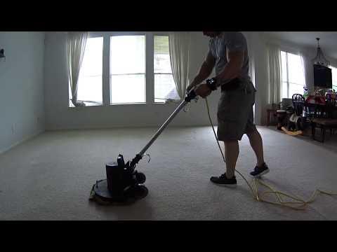 Orbital pad carpet cleaning in Austin Texas