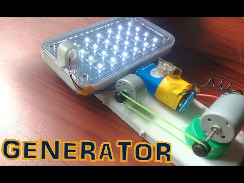 How To Make Electric Generator at Home - Easy Project
