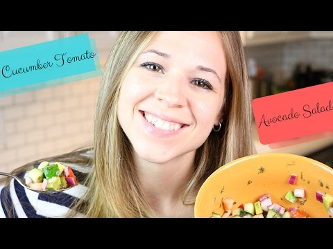 Cucumber Tomato Avocado Salad recipe - How to make