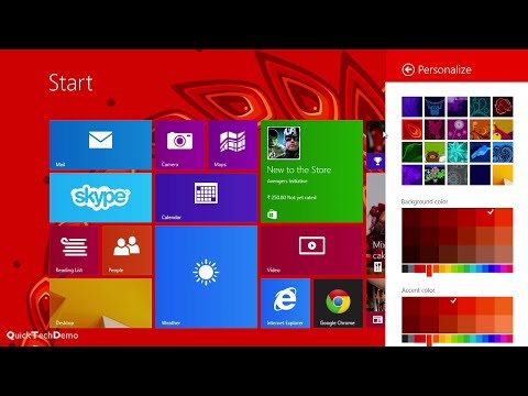 How to Change Windows 8.1 Start Screen Background