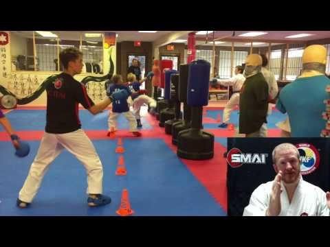 Line Drills - Kumite sparring drill for WKF Sports Karate