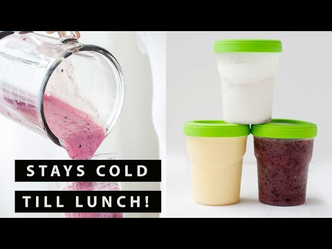 How to Pack a Smoothie in a School Lunch & Coconut Pie Smoothie