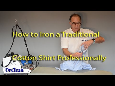 How to Iron a Double Cuff Cotton Shirt Professionally