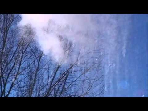 Making Snow from hot water on a 0 degree day