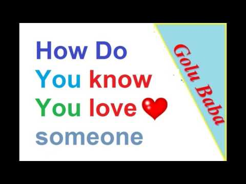 Know are You in love or not [ Hindi ] By Golu baba