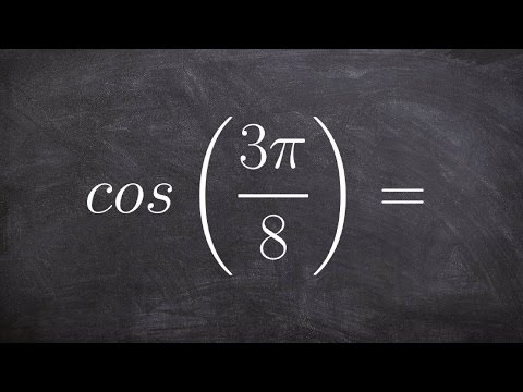 Using the half angle of cosine to evaluate cos