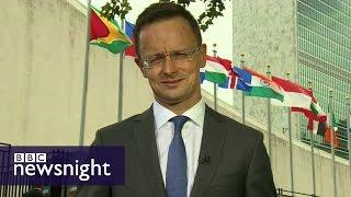 Evan Davis quizzes Hungary