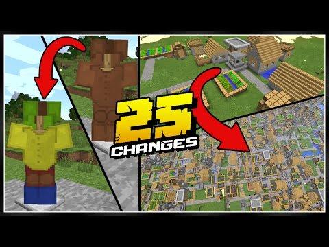 25 Minecraft Pocket Edition Changes