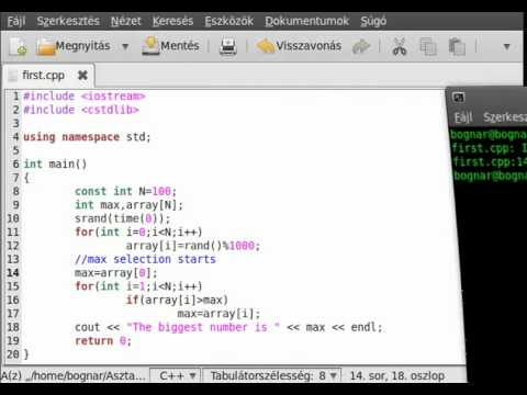 C++ tutorial 31 - max,min selection.avi