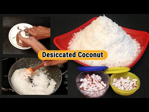 Coconut Flour | How to make Desiccated Coconut | Homemade Desiccated Coconut Powder | Coconut Tips