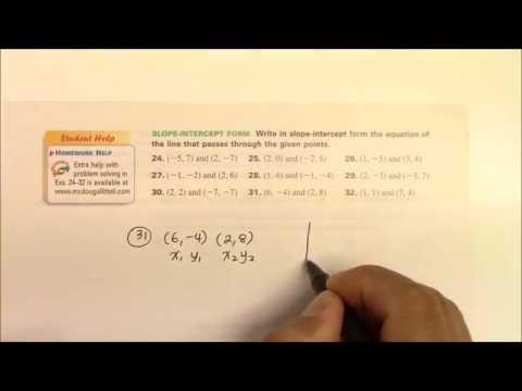 IH 009 Writing Slope-Intercept Form Part 1