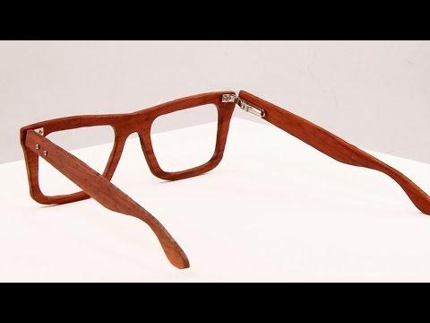 Laser Cut Wood Costume Glasses