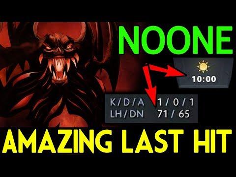 NOONE Dota 2 [Shadow Fiend] AMAZING Last Hit Level God