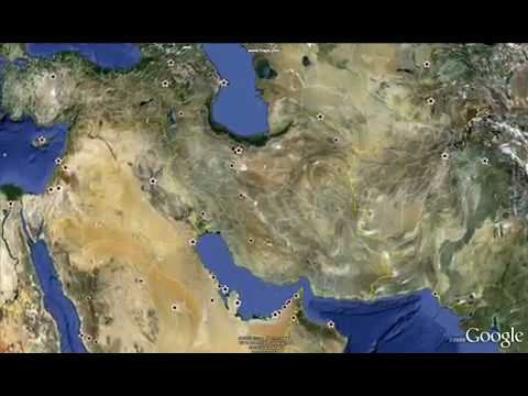 Google Earth fly-in to Iran