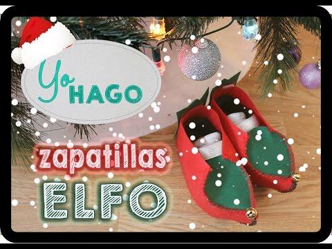 DIY - ZAPATILLAS DE ELFO - ELF SHOES -#NAVIDAD