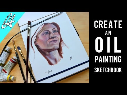 How to Make an Oil Painting Sketchbook