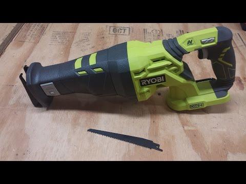 Ryobi P516 18V Cordless Reciprocating Saw Review