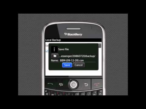 How To Backup BlackBerry Messenger contact list