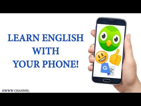 HOW TO LEARN ENGLISH WITH YOUR PHONE (FOR FREE!)