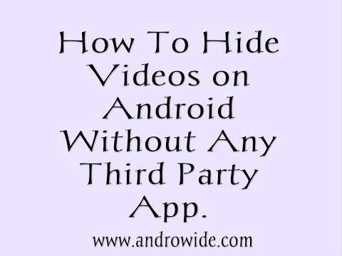 How to HIDE VIDEOS Picture IMAGES AND APP LOCK on Android Phones