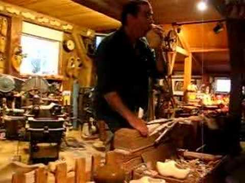 Wooden Shoe making in Holland