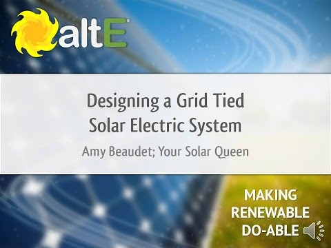 Designing a Grid Tie Solar Power System