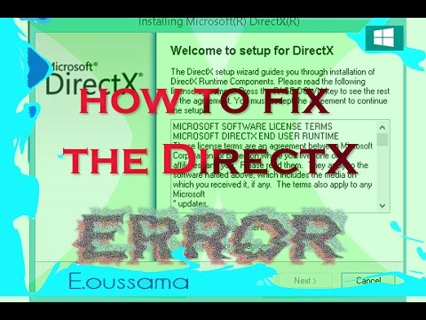How to fix DirectX error when you run a game [windows 7 / 8 / 8.1 / 10]